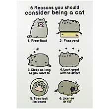 Buy Pusheen Be A Cat Greeting Card Online at johnlewis.com