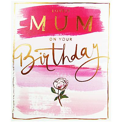 Cardmix Watercolour Flowers Mum Greeting Card