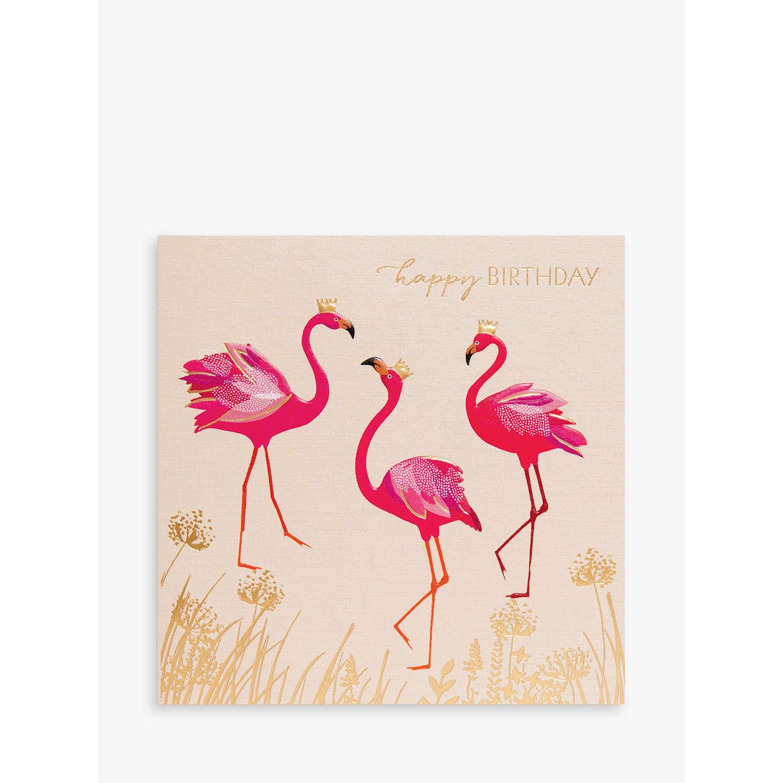 Sara Miller Birthday Flamingos Greeting Card At John Lewis