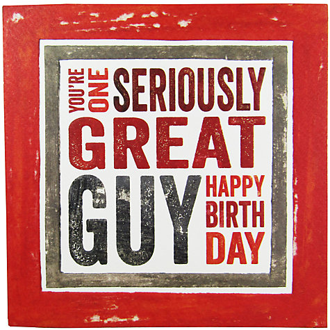 Buy blue eyed sun great guy birthday card john lewis buy blue eyed sun great guy birthday card online at johnlewis bookmarktalkfo Gallery