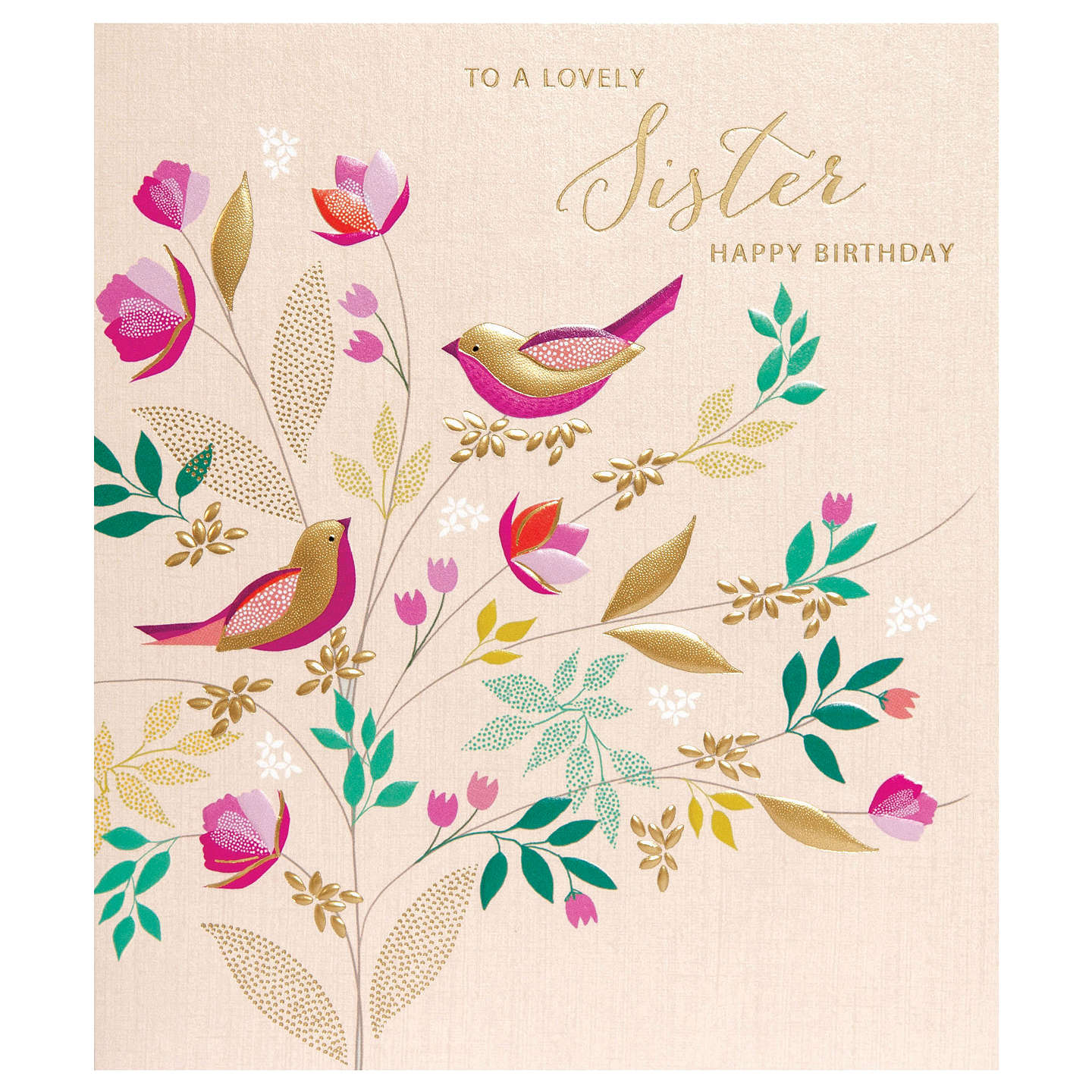 Art File Lovely Sister Happy Birthday Greeting Card At John Lewis