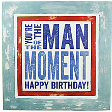 Buy Blue Eyed Sun Man Of Moment Birthday Card Online at johnlewis.com
