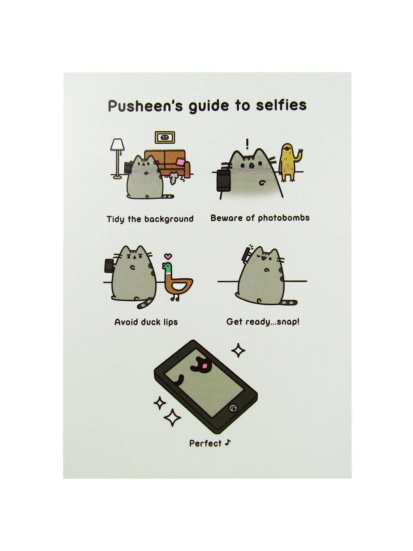 Cartoon House Inside View: Pusheen Selfie Guide Greeting Card At John Lewis & Partners