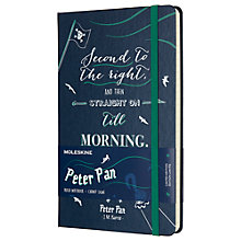 Buy Moleskine Large Peter Pan Pirates Ruled Notebook, Blue Online at johnlewis.com