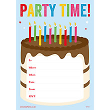 Buy Dear Henry Party Time Invitations, Pack of 20 Online at johnlewis.com