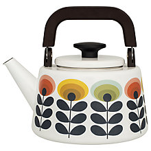 Buy Orla Kiely 70s Flower Enamel Hob Top Kettle Online at johnlewis.com