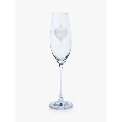 Image of John Lewis & Partners Something Special 'Mr' Crystal Champagne Flute