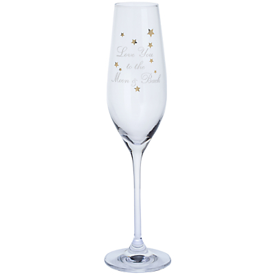 John Lewis 'Love You To The Moon & Back' Champagne Flute