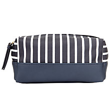 Buy John Lewis Canvas Stripe Box Wash Bag, Navy/White Online at johnlewis.com