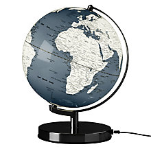 "Buy Wild Wood Light Up 10"" Globe, Concrete Grey Online at johnlewis.com"