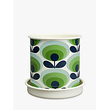 Buy Orla Kiely 70's Flower Oval Large Plant Pot, Green Online at johnlewis.com