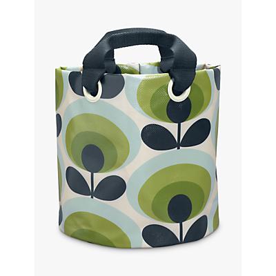 Orla Kiely 70's Flower Oval Medium Fabric Plant Bag, Green
