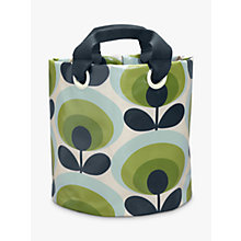 Buy Orla Kiely 70's Flower Oval Medium Fabric Plant Bag, Green Online at johnlewis.com