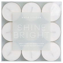 Buy Katie Loxton Shine Bright Sweet Lychee and Mango Flower Scented Tealights, Pack of 9 Online at johnlewis.com