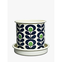 Buy Orla Kiely Spot Flower Small Plant Pot, Green Online at johnlewis.com