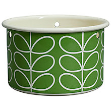 Buy Orla Kiely Linear Stem Small Hanging Plant Pot, Green Online at johnlewis.com