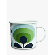 Buy Orla Kiely 70's Flower Oval Enamel Mug, Green Online at johnlewis.com