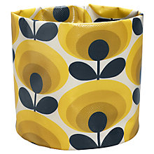 Buy Orla Kiely 70's Flower Oval Small Fabric Plant Bag, Yellow Online at johnlewis.com