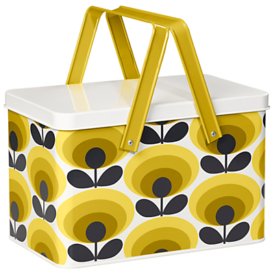 Orla Kiely Garden Tool Box 70's Dandelion Oval Flower Print, Yellow