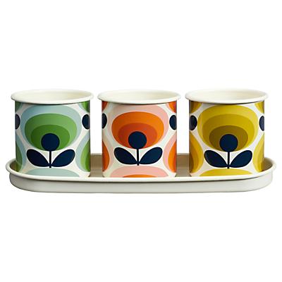 Orla Kiely 70's Flower Herb Pots, Set of 3