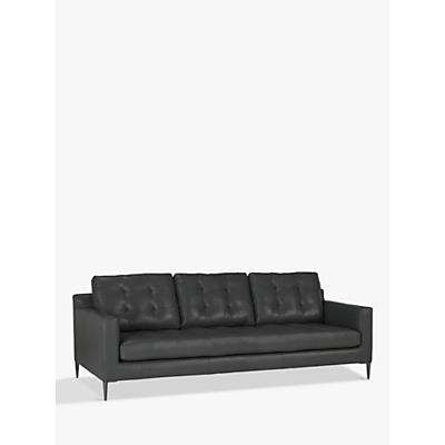 John Lewis & Partners Draper Grand 4 Seater Leather Sofa, Metal Leg