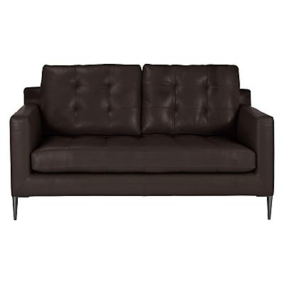 John Lewis Draper Medium 2 Seater Leather Sofa, Metal Leg