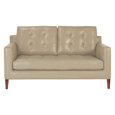 John Lewis Draper Medium 2 Seater Leather Sofa, Dark Leg