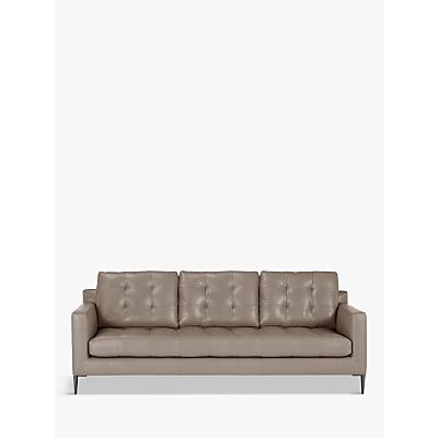 John Lewis Draper Grand 4 Seater Leather Sofa, Metal Leg