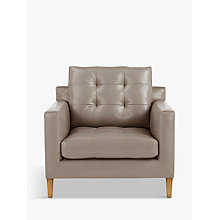 Buy John Lewis Draper Leather Armchair, Light Leg Online at johnlewis.com
