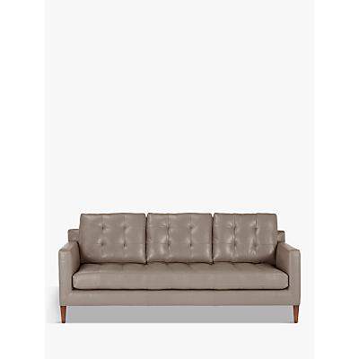 John Lewis & Partners Draper Leather Large 3 Seater Sofa, Dark Leg