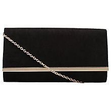 Buy Carvela Dylan Foldover Clutch Bag, Black Online at johnlewis.com