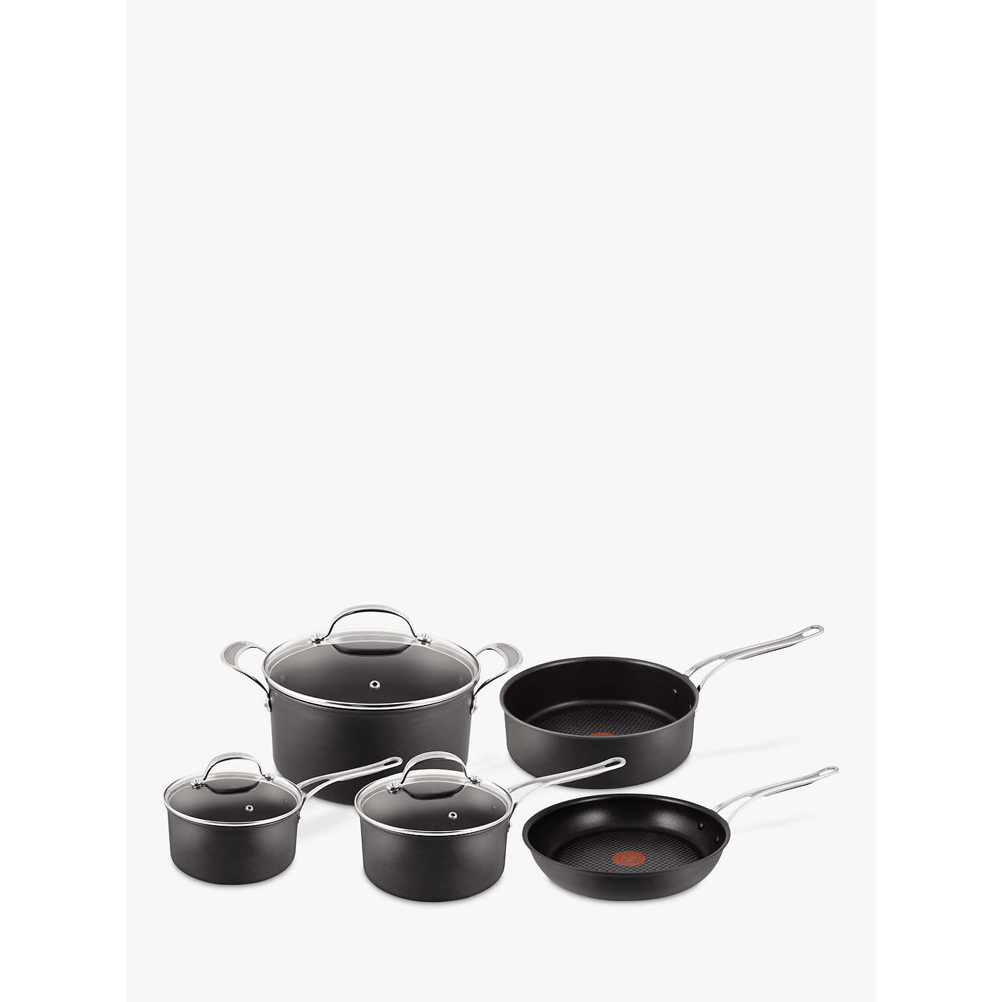 jamie oliver by tefal hard anodised pan set 5 pieces at john lewis. Black Bedroom Furniture Sets. Home Design Ideas