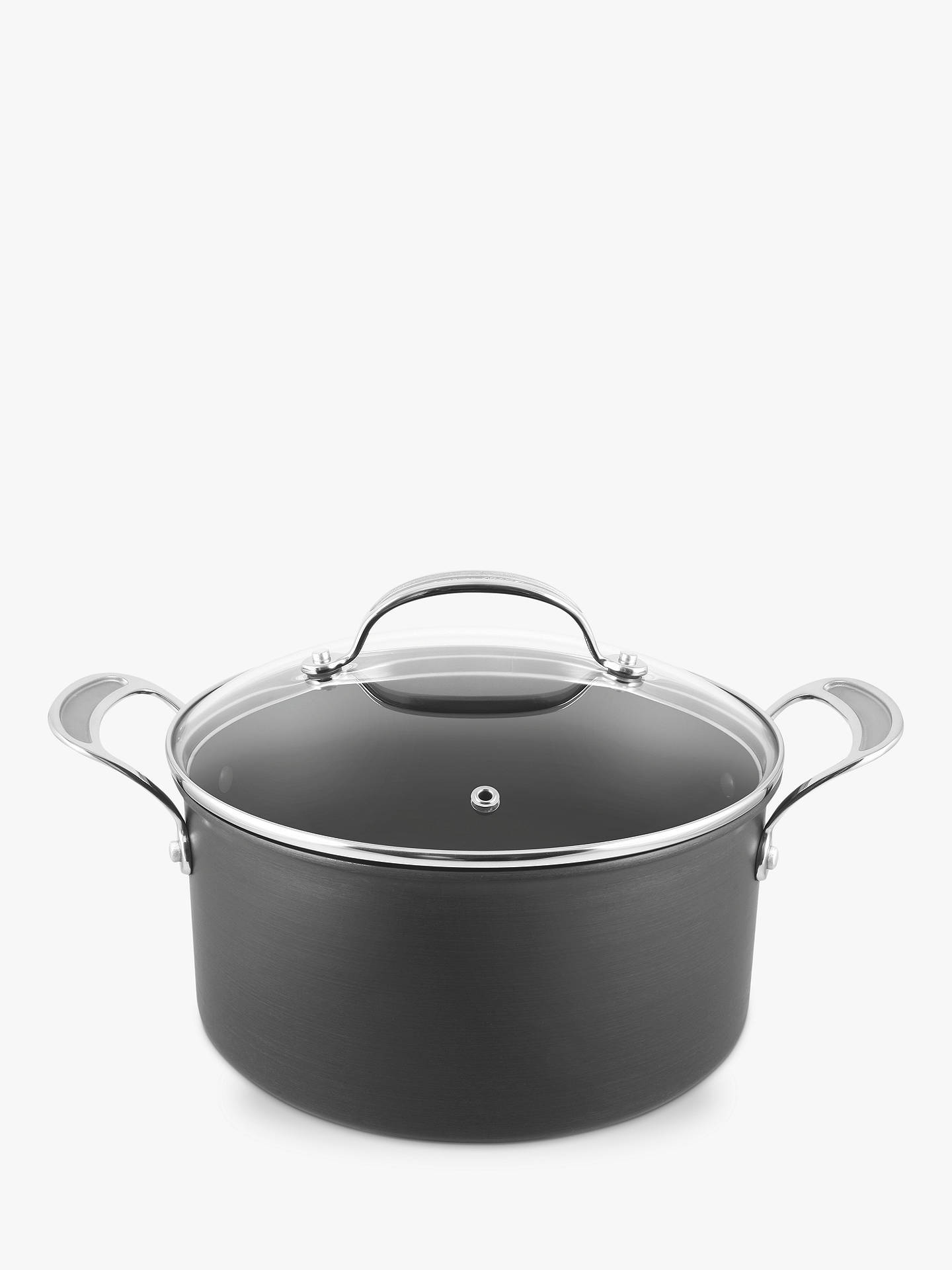 Buy Jamie Oliver by Tefal Hard Anodised Aluminium Non-Stick Stock Pot, 24cm Online at johnlewis.com