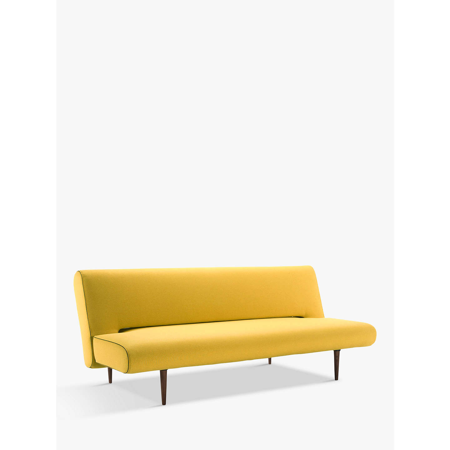 BuyInnovation Unfurl Sofa Bed with Pocket Sprung Mattress, Dark Leg, Mustard Flower Online at johnlewis.com