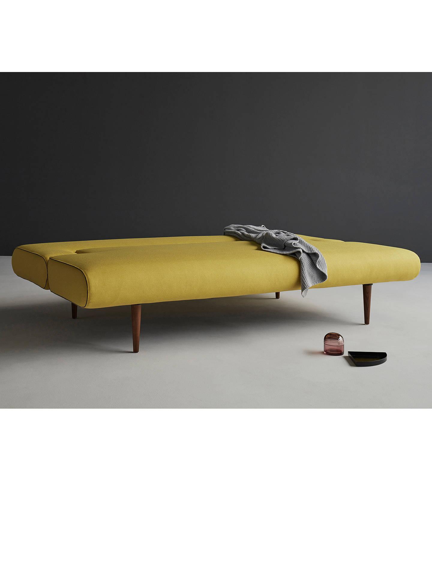 ... BuyInnovation Unfurl Sofa Bed With Pocket Sprung Mattress, Dark Leg,  Mustard Flower Online At
