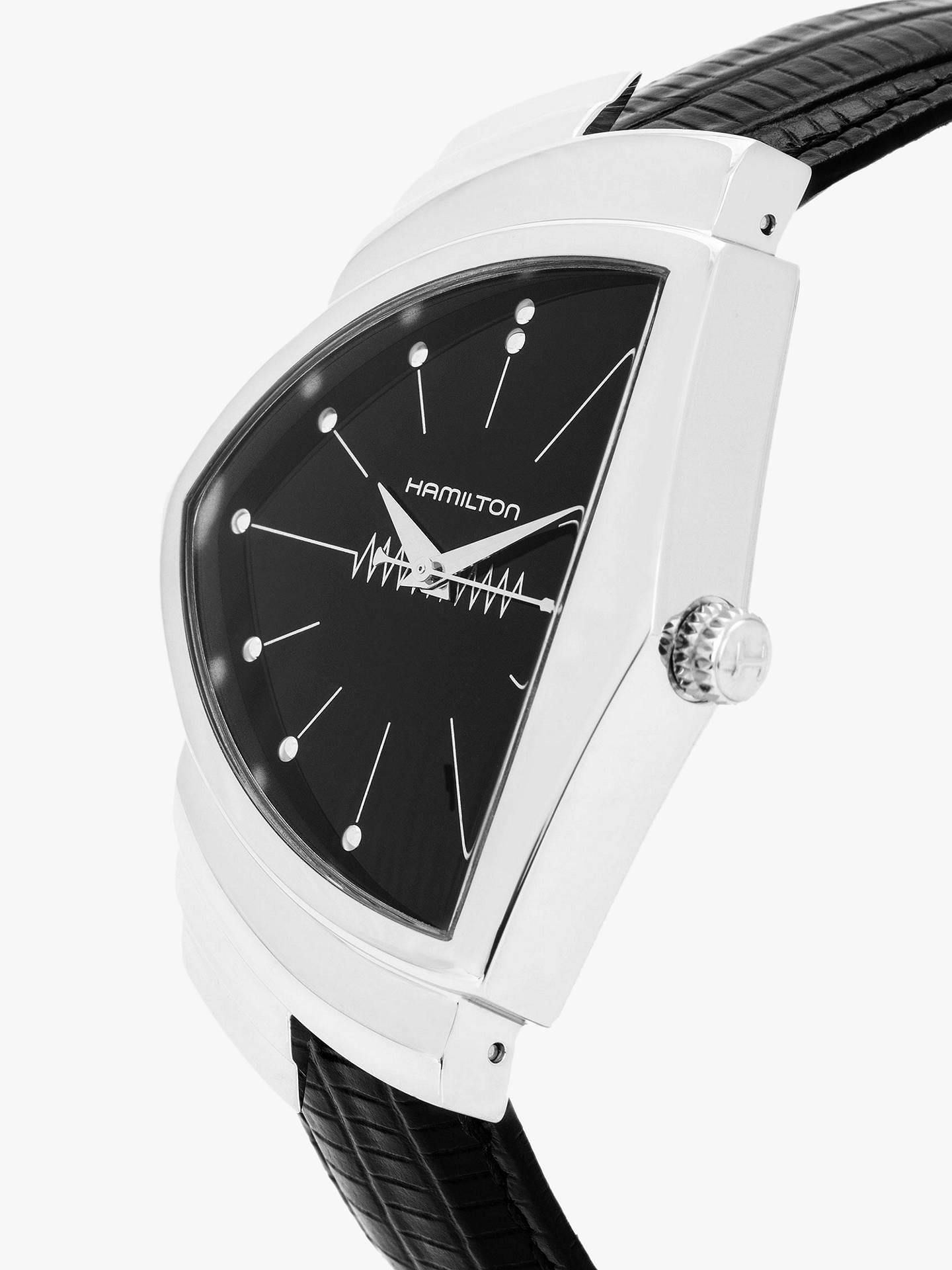 a825b4b7869 ... Buy Hamilton H24411732 Men's Ventura Triangular Leather Strap Watch,  Black Online at johnlewis. ...