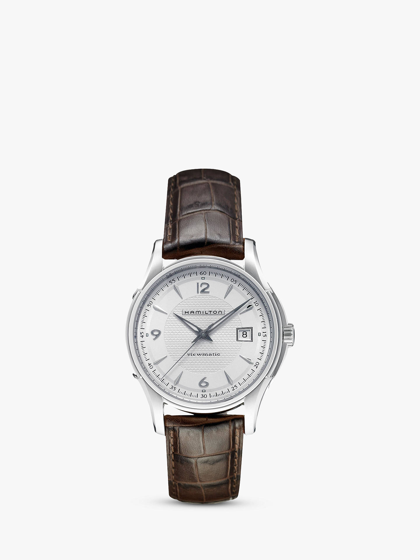 5c9f793272c Buy Hamilton H32515555 Men s Jazzmaster Viewmatic Automatic Date Leather  Strap Watch