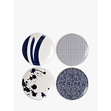 Buy Royal Doulton Pacific Melamine Salad Plate, Set of 4, Blue, Dia.20.5cm Online at johnlewis.com