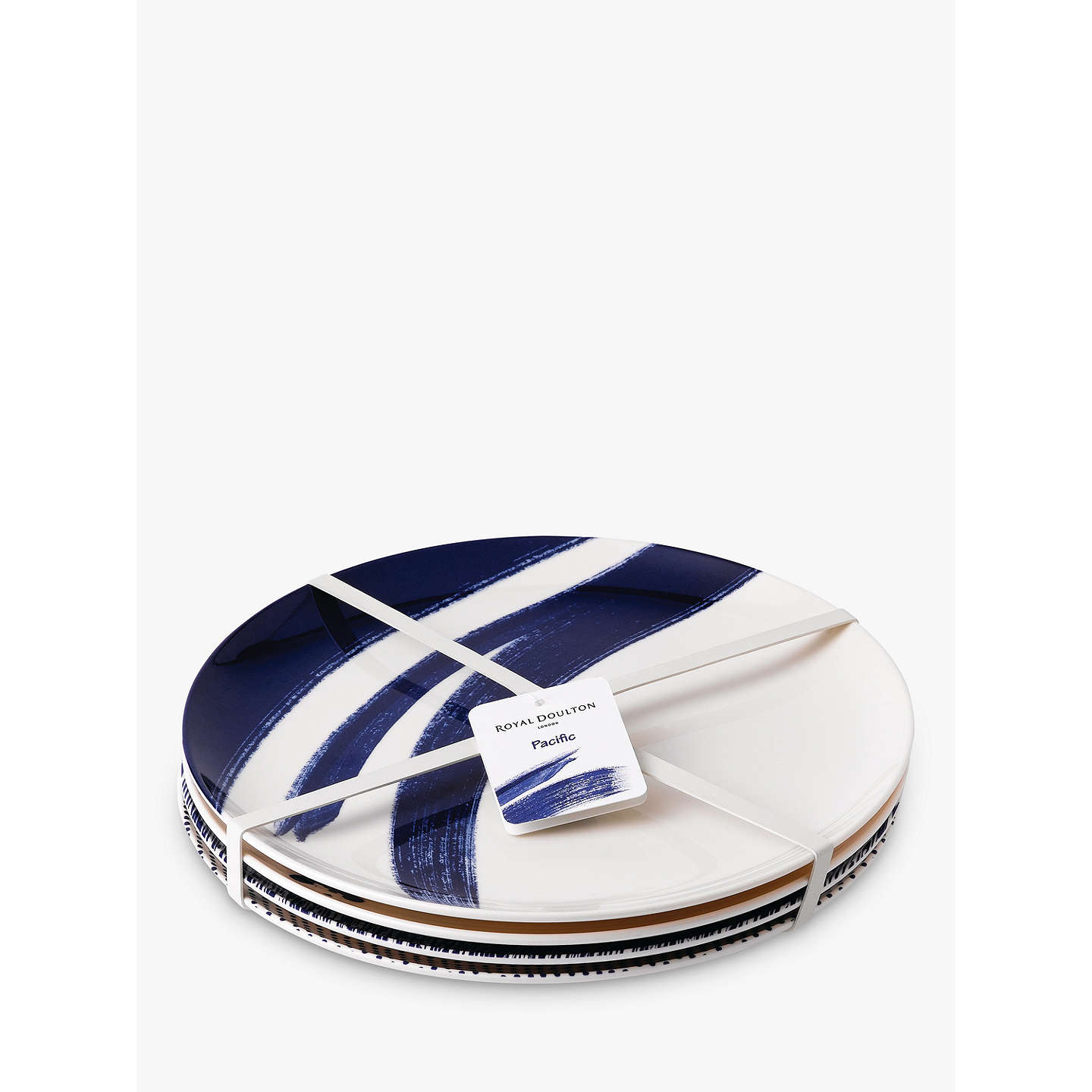 BuyRoyal Doulton Pacific Melamine Dinner Plate, Set of 4, Blue Online at johnlewis.com