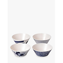 Buy Royal Doulton Pacific Melamine Cereal Bowl, Set of 4, Blue, Dia.15cm Online at johnlewis.com