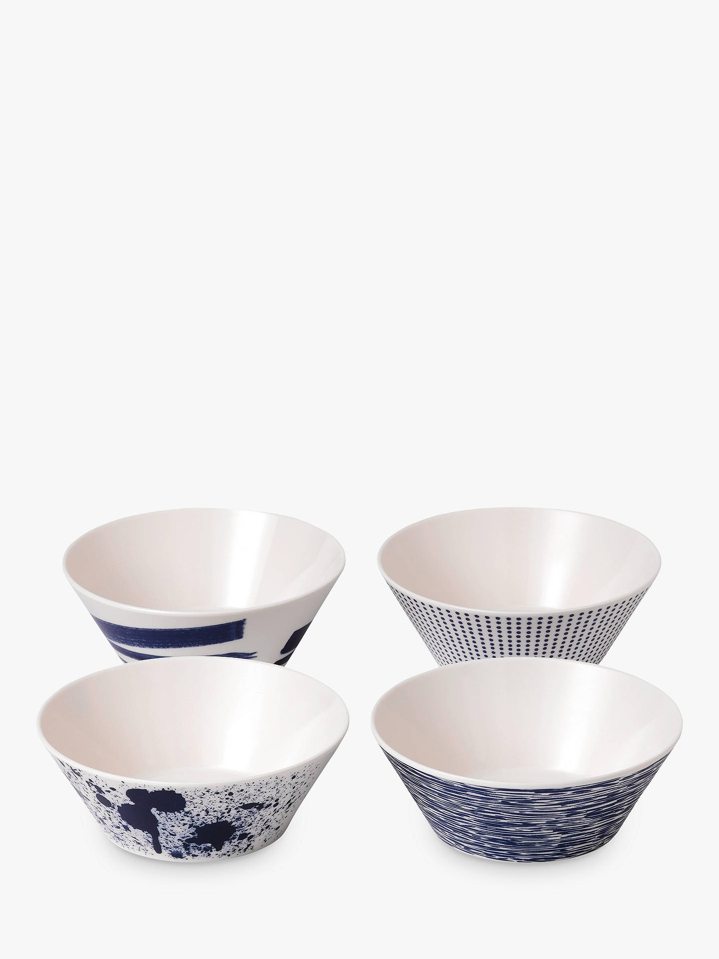BuyRoyal Doulton Pacific Melamine Cereal Bowl, Set of 4, Blue, Dia.15cm Online at johnlewis.com