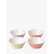 Buy Royal Doulton Pastels Melamine Cereal Bowl, Set of 4, Multi, Dia.15cm Online at johnlewis.com