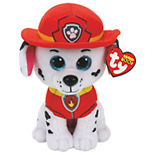 Buy Ty Paw Patrol Marshall 15cm Beanie Soft Toy Online at johnlewis.com