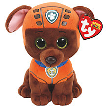 Buy Ty Paw Patrol Zuma 15cm Beanie Soft Toy Online at johnlewis.com