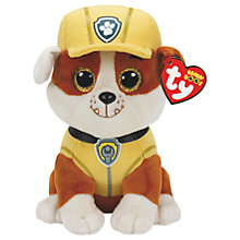 Buy Ty Paw Patrol Rubble 15cm Beanie Soft Toy Online at johnlewis.com