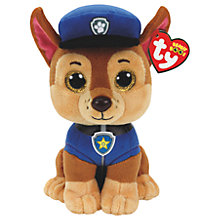 Buy Ty Paw Patrol Chase 15cm Beanie Soft Toy Online at johnlewis.com