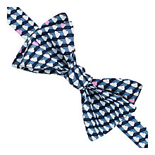 Buy Thomas Pink Blake Print Self Tie Bow Tie, Navy/White Online at johnlewis.com