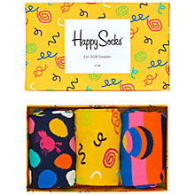 Buy Happy Socks Easter Socks Gift Box, Pack of 3, One Size, Multi Online at johnlewis.com