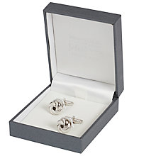 Buy Simon Carter for John Lewis Sterling Silver Knot Cufflinks, Silver Online at johnlewis.com