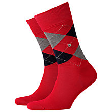 Buy Burlington Manchester Short Socks, One Size, Red Online at johnlewis.com